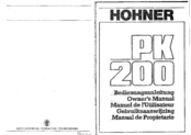 Hohner PK 200 Owner's Manual