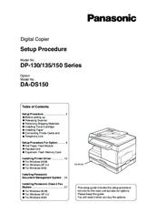 panasonic WORKIO DP-130 Setup Procedure