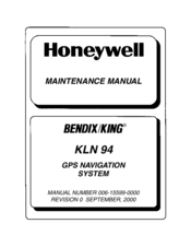 Honeywell BENDIX/KING KLN 94 Maintenance Manual