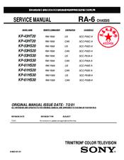sony kp 43ht20 service manual pdf download rh manualslib com Auto Repair Manual Auto Repair Manual