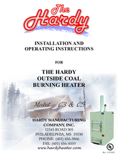 HARDY C3 INSTALLATION AND OPERATING INSTRUCTIONS MANUAL Pdf ... on