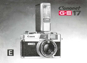 Canon Canonet G-III 17 Manual