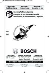 Bosch 1364 - 15 Amp Hand Held Abrasive Cutoff Machine Operating/Safety Instructions Manual