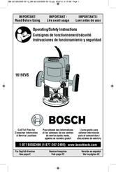 bosch 1619evs na 3 25 hp electronic plunge router manuals rh manualslib com Bissell PowerSteamer User Manual Instruction Manual Example