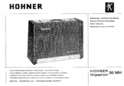 Hohner Orgaphon 30 MH General Service Instructions Manual