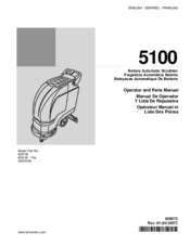 Parts manual for tennant 5100.