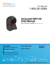 Honeywell Orbit MS7120 Manuals