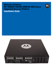 Motorola NX-6524 Series Installation Manual