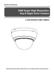 Sony 3-AXIS INDOOR DOME CAMERA Instruction Manual
