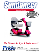 Pride Sundancer User Manual