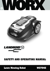 WORX LANDROID M WG794E SAFETY AND OPERATING MANUAL Pdf Download
