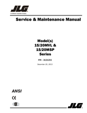 jlg 15msp series manuals rh manualslib com jlg aerial lift operators manual jlg boom lift service manual