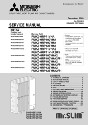Mitsubishi Electric Puhz Hrp125yha Manuals