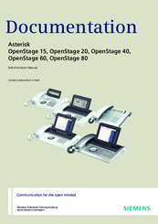 Siemens Asterisk OpenStage 60 Administration Manual