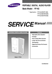 samsung yp k5 manuals rh manualslib com Samsung P2 Player Samsung P2 Player