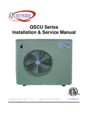 QUIETSIDE QSCU-361 INSTALLATION & SERVICE MANUAL Pdf Download
