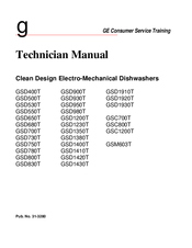 GE CleanDesign GSC800T Technician Manual