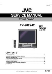 jvc tv 20f242 service manual pdf download rh manualslib com jvc tv service manual JVC Rear Projection TV Manual 6 183