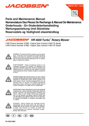 JACOBSEN HR 4600 TURBO 67862 PARTS AND MAINTENANCE MANUAL ... on