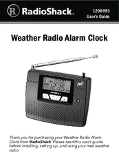 radio shack 1200093 manuals rh manualslib com radio shack weather radio manual 12-260 radio shack weather radio manual 12 262