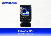 LOWRANCE ELITE-3X DSI OPERATION MANUAL Pdf Download