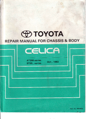 toyota celica 1993 st20 series manuals rh manualslib com Instruction Manual Example User Guide Icon