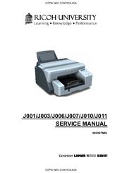 RICOH J001 SERVICE MANUAL Pdf Download