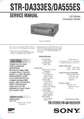 sony str da333es fm stereo fm am receiver manuals. Black Bedroom Furniture Sets. Home Design Ideas