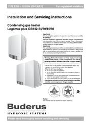 buderus logamax plus gb142 45 manuals rh manualslib com buderus logamax plus gb162 installation manual buderus logamax plus gb162 installation manual