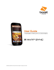 ZTE WARP SYNC USER MANUAL Pdf Download