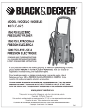 Black & Decker 10BLE-025 User Manual