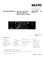 Sanyo MAR-1000 (A) Service Manual