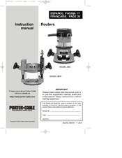 porter cable router 6931 manual