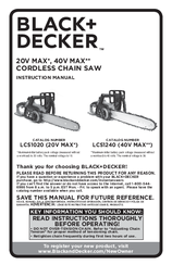 Black & Decker LCS1020 Instruction Manual