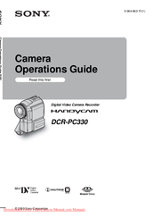 Sony DCR-PC330 Operation Manual