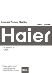 Haier HLP23E - Electronic Touch Pulsator Ing Portable Washing Machine User Manual