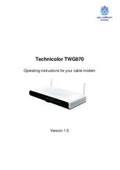 Technicolor TWG870 Manuals