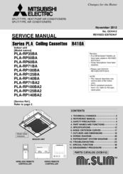 Mitsubishi Electric PLA-RP35BA Service Manual