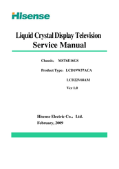 hisense lcd19w57aca service manual pdf download rh manualslib com samsung television service manual color television service manual pdf