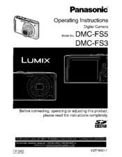 panasonic lumix dmc fs3 manuals rh manualslib com Panasonic Lumix Logo Panasonic Lumix Dmc-Fz1000