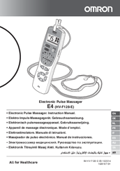Omron E4 (HV-F128-E) Instruction Manual