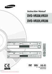 samsung dvd vr330 instruction manual pdf download rh manualslib com Samsung DVD FM Tuner TV DVD Recorder with Tuner