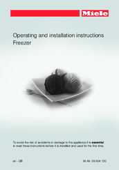 Miele Freezer Operating And Installation Instructions