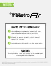 Idatalink Maestro RR Manuals