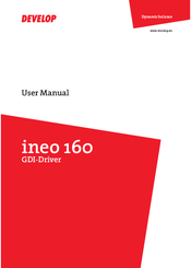 Develop ineo 160 manuals.