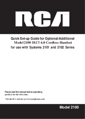 RCA 2100 Quick Setup Manual