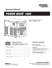 Lincoln Electric POWER WAVE I400 Operator's Manual