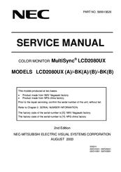 nec lcd2080ux multisync 20 1 lcd monitor manuals rh manualslib com nec np115 projector service manual NEC Projector Ports
