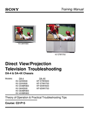 sony kp 57wv600 57 hi scan 1080i 16 9 projection television manuals rh manualslib com