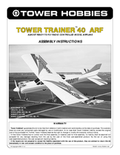 tower hobbies tower trainer 40 arf manuals rh manualslib com Tower Hobbies Logo Tower Hobbies RC